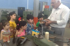 بازدید کودکان مهدکودک رنگین کمان از مرکز